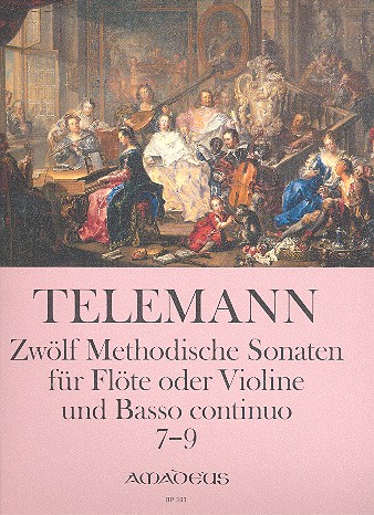 12 methodische Sonaten Band 3 (Nr.7-9): für Violine (Flöte) und Bc