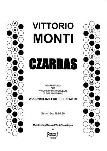 Czardas: für Violine und Akkordeon (Flöte ad lib.)