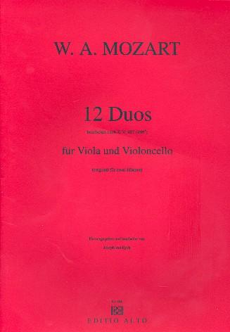12 Duos KV487: für Viola und Violoncello