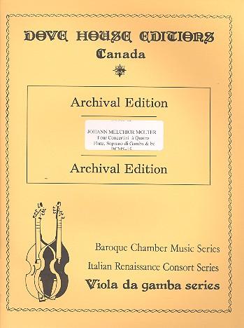 4 Concertini a 4: for flute (recorder), soprano gamba (violin), bass gamba (cello)