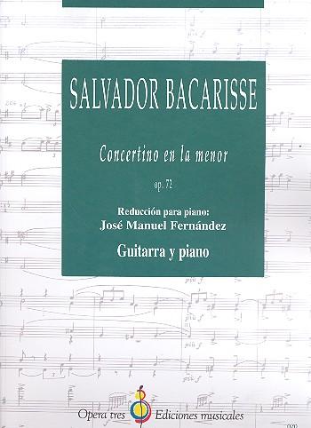 Concertino la menor opus.72 para guitarra y orquesta: