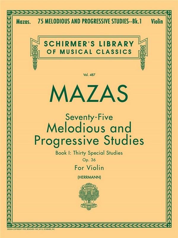 75 melodious and progressive studies opus.36 vol.1: