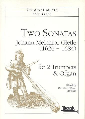 2 Sonatas: for 2 trumpets and organ
