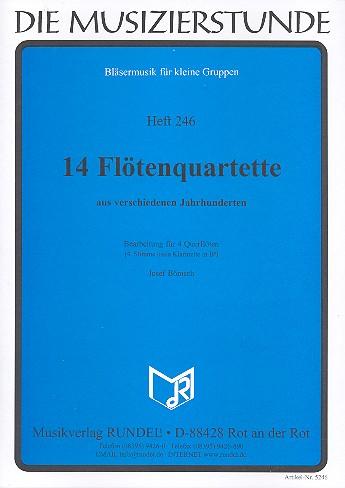 14 Flötenquartette aus verschiedenen Jahrhunderten