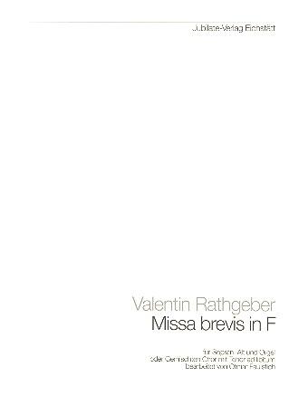 Rathgeber, Valentin - Missa brevis F-Dur : für Frauenchor