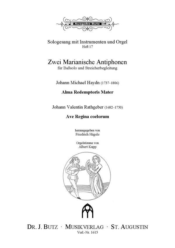 2 marianische Antiphonen: für Baß solo und Streicher