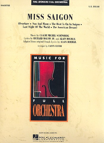 Miss Saigon: for full orchestra score and parts