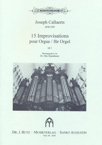 15 Improvisationen opus.1: für Orgel
