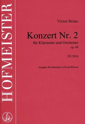 Konzert op.48 für Klarinette und Orchester: für Klarinette und Klavier
