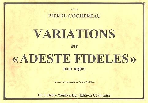 Variations sur Adeste fideles: pour orgue