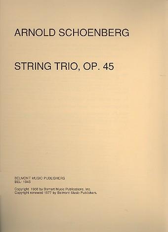 Trio opus.45: for violin, viola and violoncello