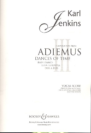 3 Movements from Adiemus: for female chorus (SSA), piano