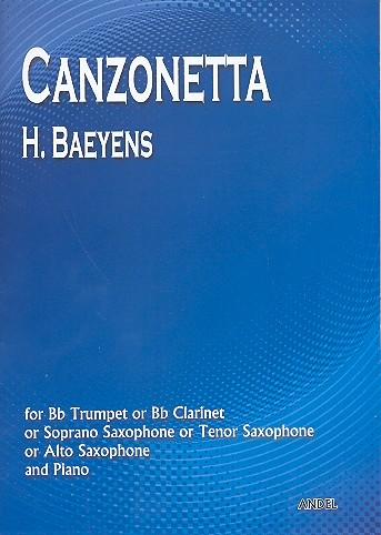 Canzonetta: for trumpet (clarinet, soprano sax, tenor sax,