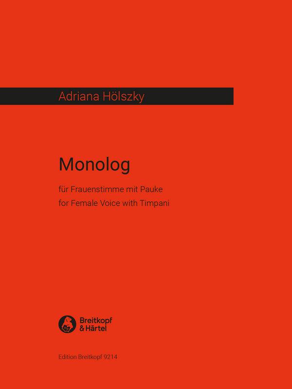 Monolog: für Frauenstimme und Pauke nach einem Text