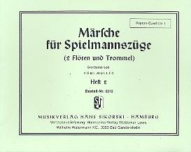 Märsche für Spielmannszüge 2 (2 Flöten, Trommel): Sopranquerflöte 1