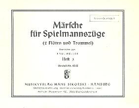Märsche für Spielmannszüge 3 (2 Flöten, Trommel): Sopranquerflöte 1