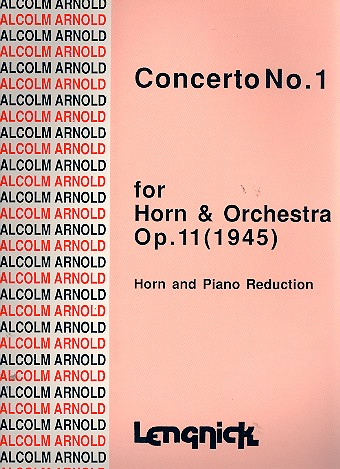 Concerto no.1 op.11 for horn and orchestra: for horn and piano