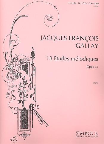 18 études mélodiques opus.53: für Horn