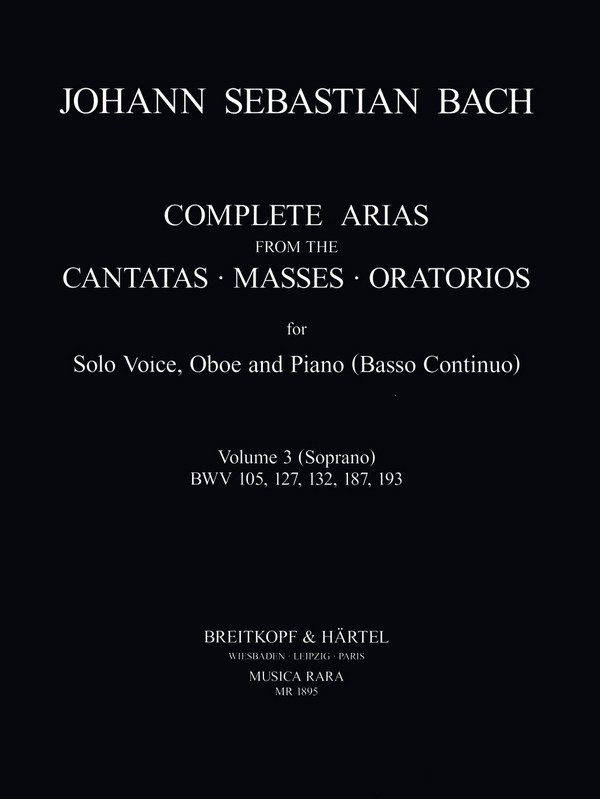 Bach, Johann Sebastian - Arias vol.3 : for soprano,