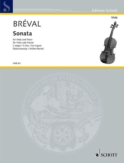 Sonate C-Dur: für Viola und Klavier