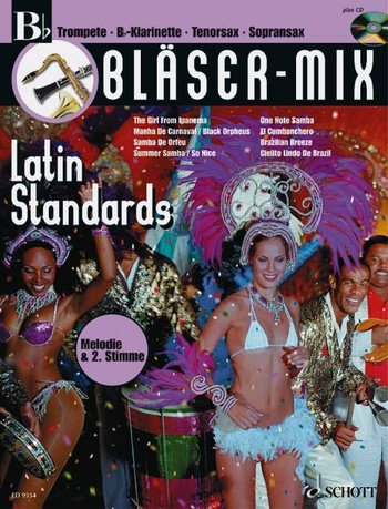 Bläser-Mix (+CD): Latin Standards für B-Instrumente