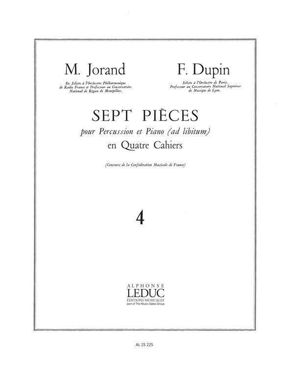 7 pieces vol.4: pour percussion et piano ad lib.