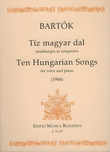 10 hungarian Songs: for voice and piano