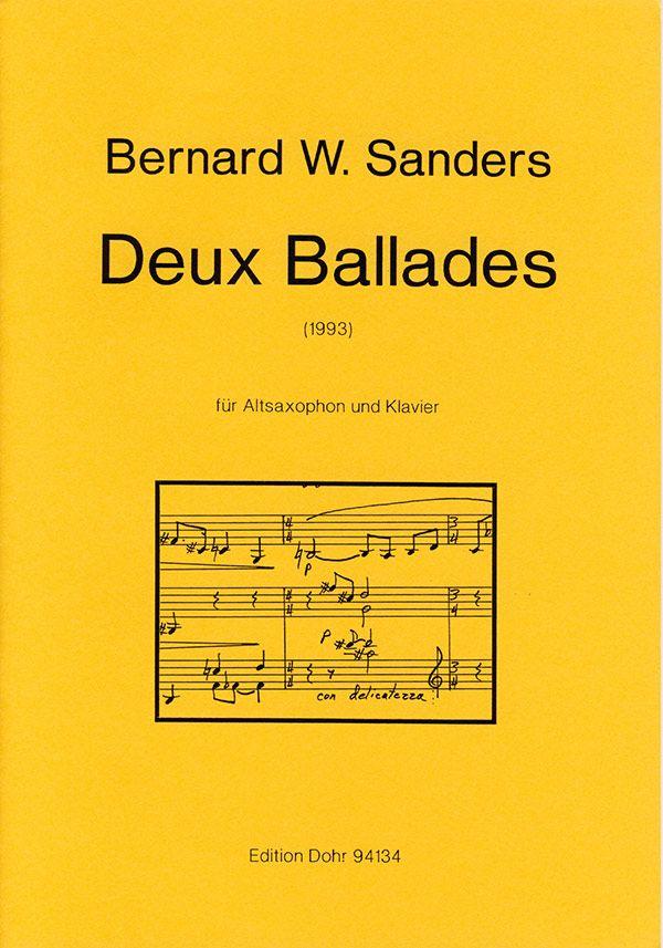 2 ballades: für Altsaxophon und Klavier