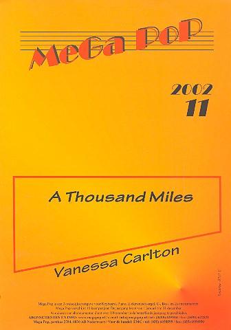 A thousand Miles: Einzelausgabe für C-Instrument und Gesang mit Akkorden