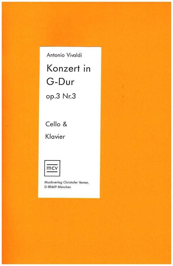 Vivaldi, Antonio - Konzert G-Dur op.3,3 für