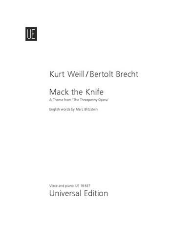 Mack the Knife: Einzelausgabe für Gesang und Klavier