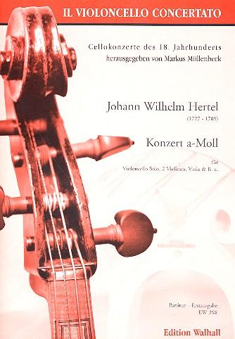 Konzert a-Moll: für Violoncello solo, 2 Violinen, Viola und Bc