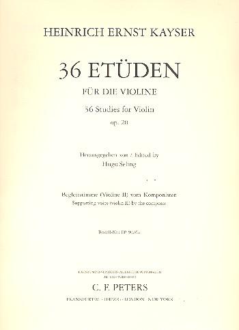 36 Etüden für die Violine opus.20: Violine 2