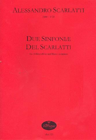 Scarlatti, Alessandro - 2 sinfoniae del Scarlatti : für