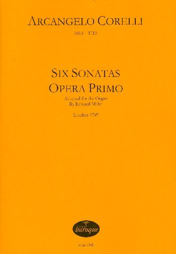 6 sonatas opus.1: for organ