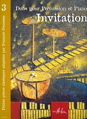 Invitation vol.3: duos pour percussion et piano, parties
