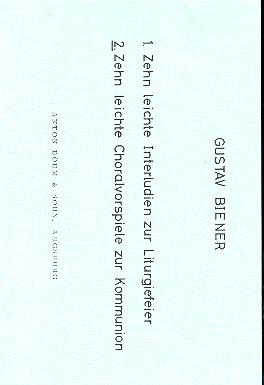 10 leichte Choralvorspiele zur Kommunion: für Orgel