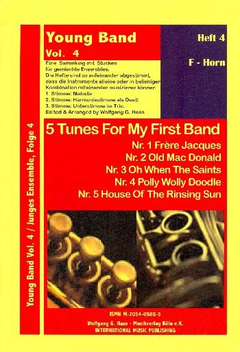 5 tunes for my first band vol.4: eine Sammlung mit Stücken für gemischtes Ensemble