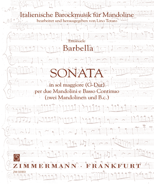 Sonata G-Dur: für 2 Mandolinen und BC Italienische Barockmusik