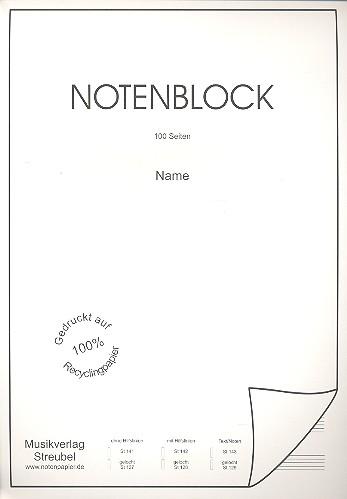 - Notenblock 12 Systeme mit Hilfslinien