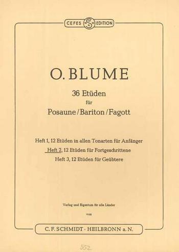 Blume, Oskar - 36 Etüden Band 2 : für Posaune