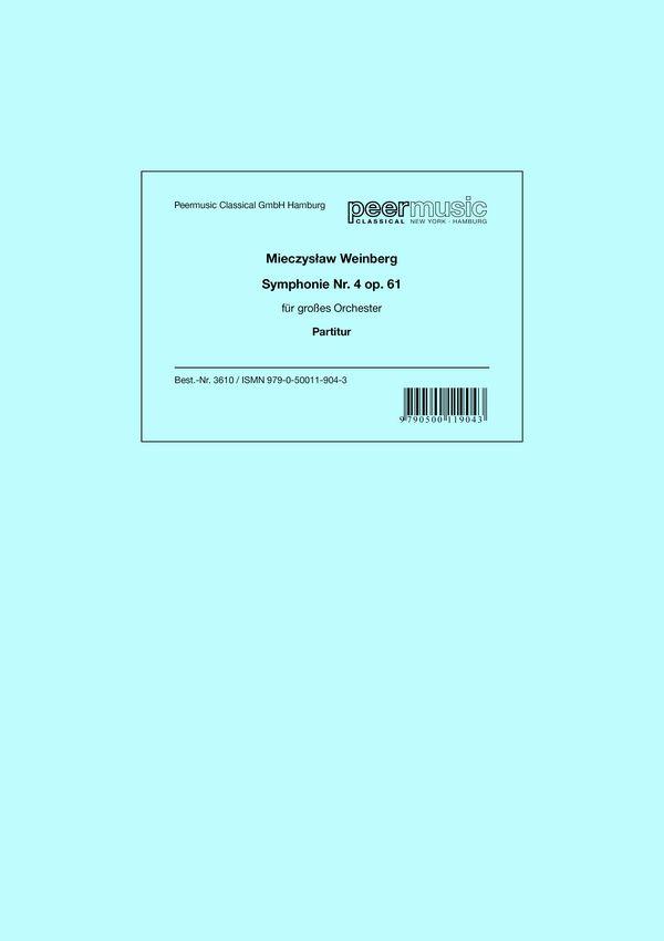 Weinberg, Mieczyslaw - Sinfonie Nr.4 op.61 :