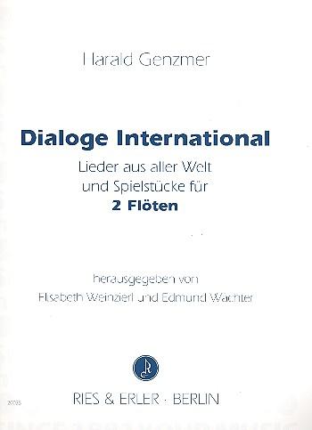 Genzmer, Harald - Dialoge International : für 2 Flöten