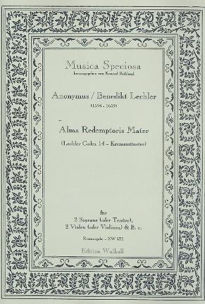 Alma Redemptoris Mater: für 2 hohe Singstimmen, 2 Violen