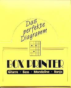 Boxprinter Display: 12 Griffbrettstempel für Gitarre