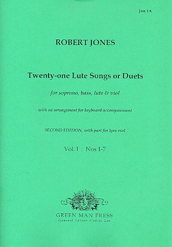 21 lute-songs or duets vol.1 (no.1-7): for soprano, bass, lute and viol