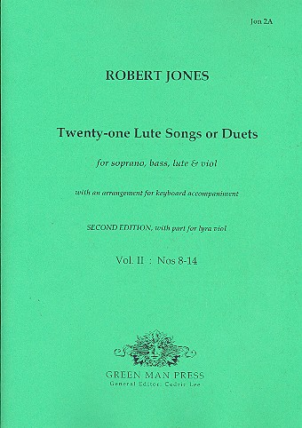 21 lute-songs or duets vol.2 (no.8-14): for soprano, bass, lute and viol