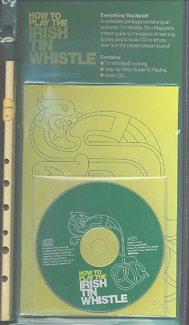 How to play the Irish Tin Whistle (+CD): Green Pack (book+Instrument in D+CD)