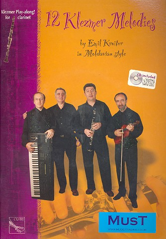 12 Klezmer melodies (+CD): for clarinet