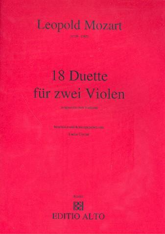 18 Duette für 2 Violinen: für 2 Violen Spielpartitur